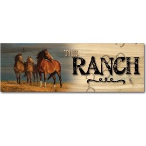 WGI Gallery 124 The Ranch On Alert Wooden Sign Art